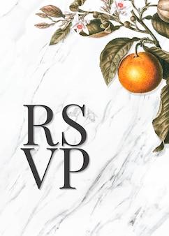 Цитрусовая карточка rsvp