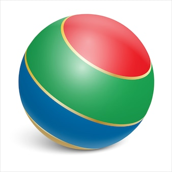 Rubber ball. toy for children's games and sports on the beach.