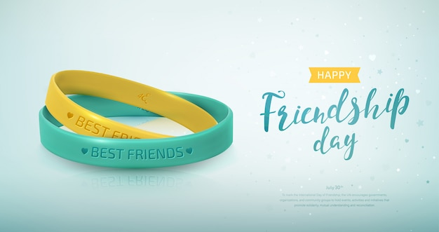 Rubber bracelets for band of friends