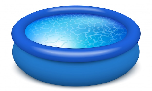 Rubber portable pool.