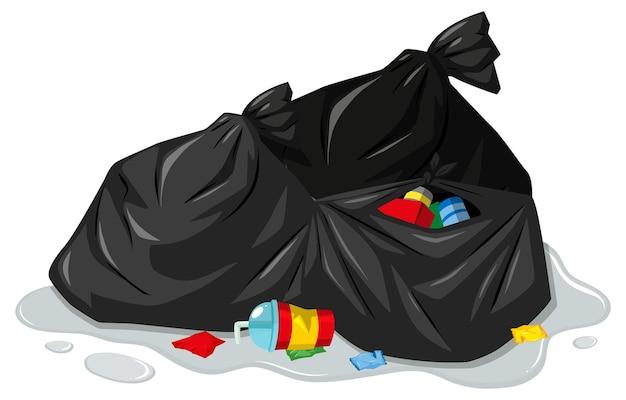 ゴミ袋と汚れたゴミ