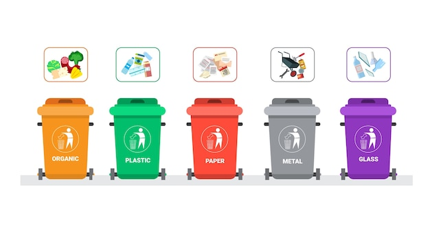 Rubbish container for sorting waste