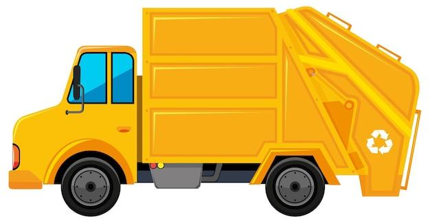 Camion della spazzatura in colore giallo