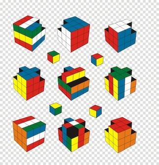Rubik's cube illustration