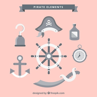 Rudder with pirate elements