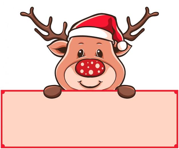 Rudolf card vector