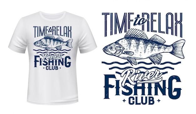 Рыба ruffe для дизайна футболки