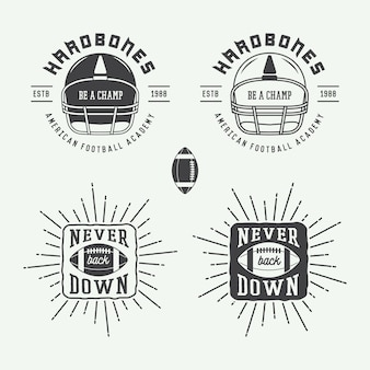 Rugby and american football emblems