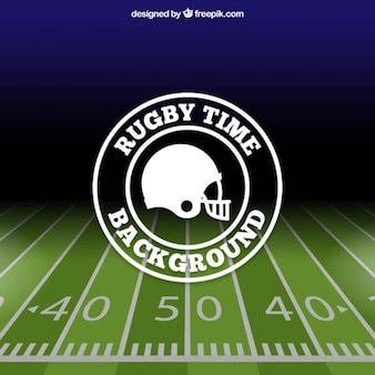 Rugby background with a flat badge