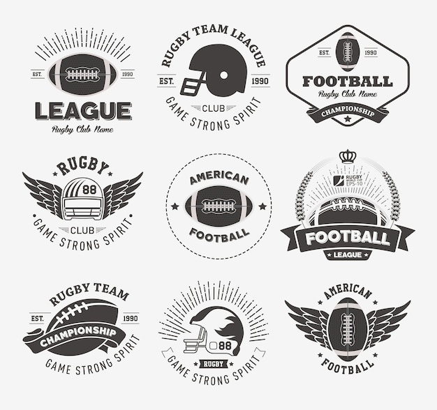 Rugby badges and labels collection
