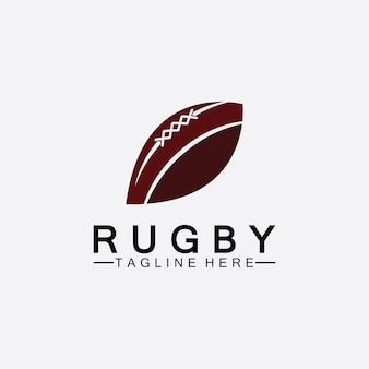 Rugby ball american football icon vector logo template