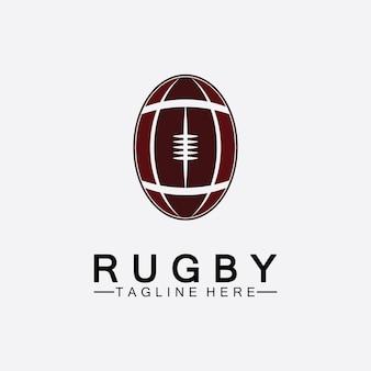 Регби мяч американский футбол значок вектор шаблон логотипа