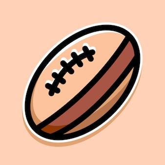 Rugby cartoon design