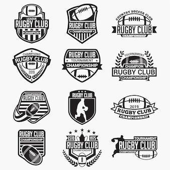 ラグビークラブのバッジとロゴ