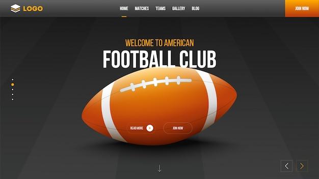 럭비 클럽 웹 사이트.