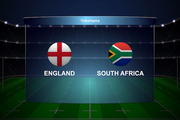 Rugby cup scoreboard broadcast graphic template