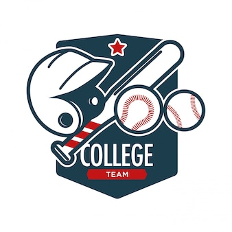 Rugby football sport college team vector badge