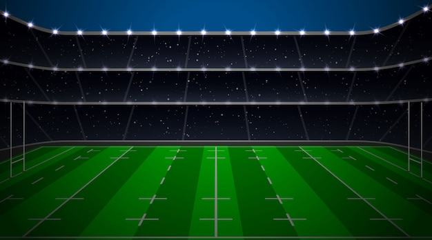 Rugby football stadium