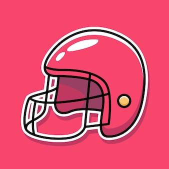 Rugby helmet cartoon design