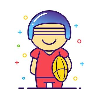 ラグビー選手のイラスト