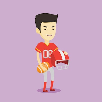 Rugby player vector illustration.