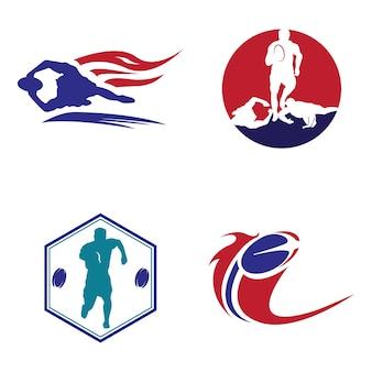 ラグビースポーツロゴサインシンボル