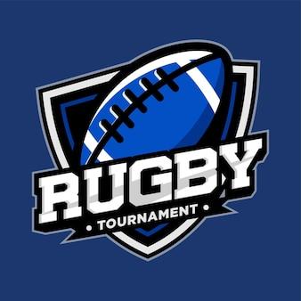 Rugby sport logo