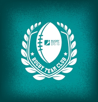 Rugby Team Club Logo Sport
