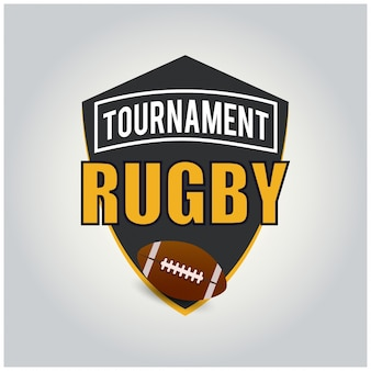 Rugby tournament logo Free Vector
