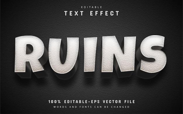 Ruins text effect editable