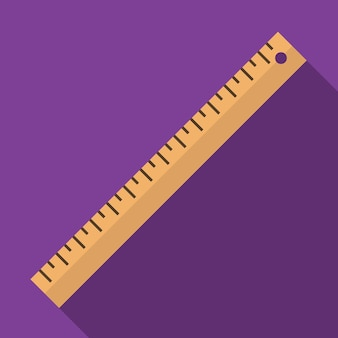 Ruler flat icon illustration isolated vector sign symbol