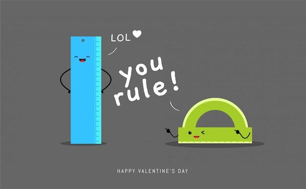 The ruler's pun