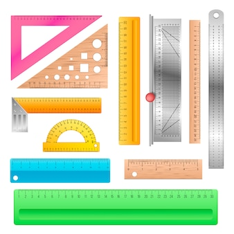 Ruler school stationery maths measurement scale tool to measure length illustration