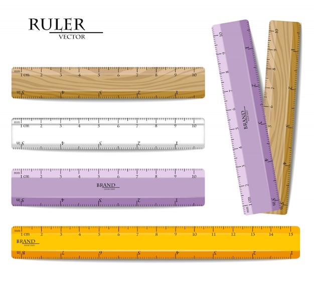 Rulers set collection