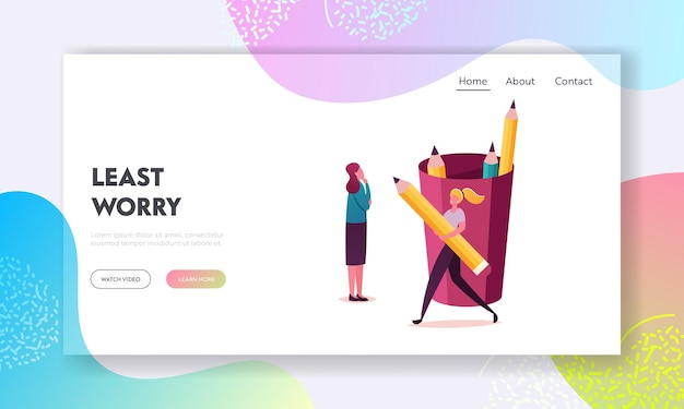 Rules regulation in company landing page template