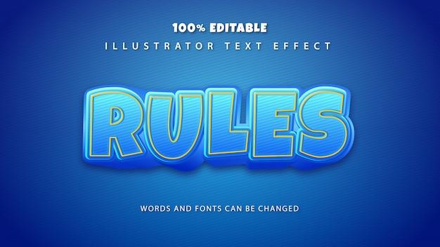 규칙 텍스트 스타일 효과, 편집 가능한 텍스트