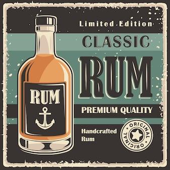 Rum retro vintage classic signage