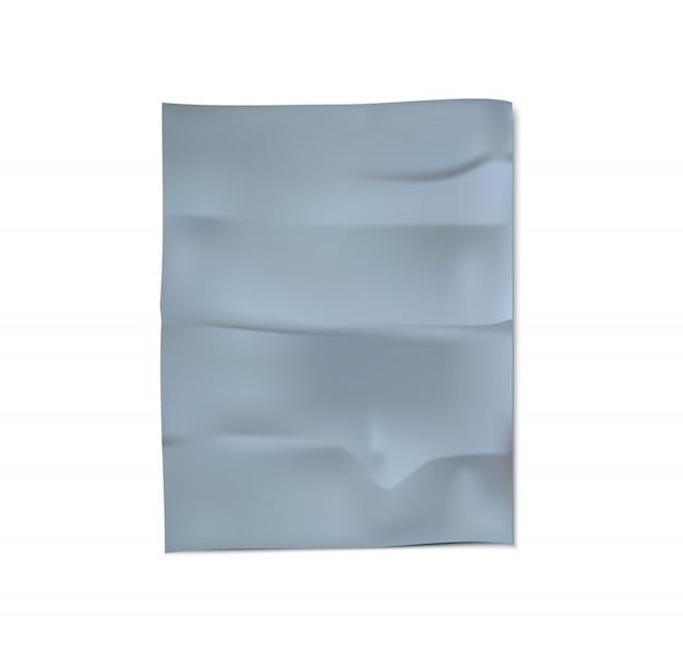 Сrumpled fabric vector
