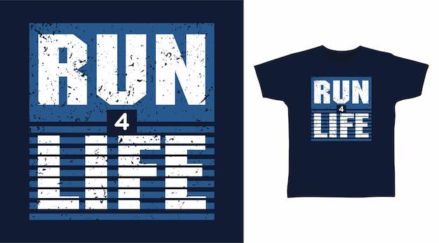 티셔츠 디자인을 위한 4가지 라이프 타이포그래피 실행