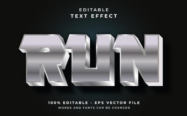 Run editable text effect