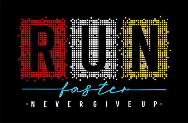 Run faster typography
