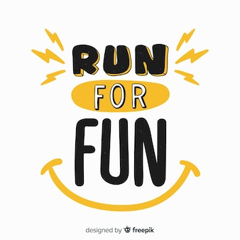 Run for fun sports lettering