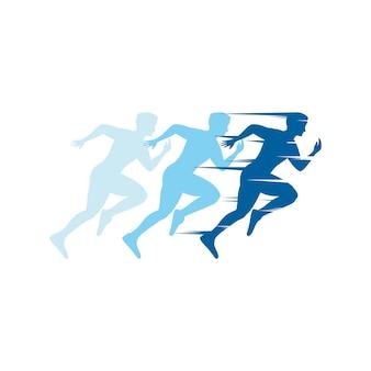 Run sport vector icon design illustration template