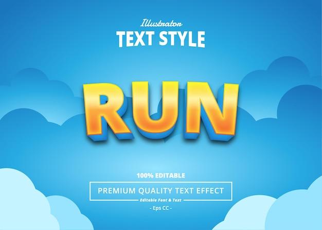 Run text effect