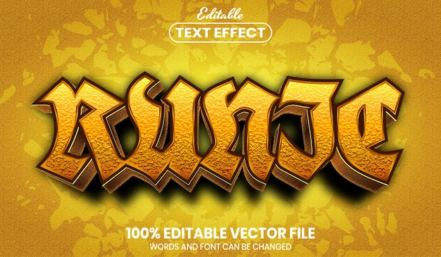Runic text, editable text effect