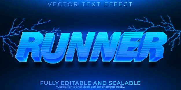 Runner text effect, editable speed and race text style