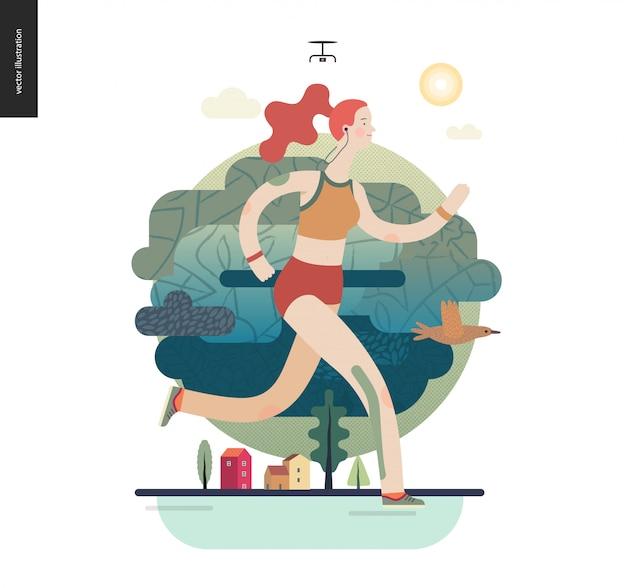 Бегунья упражнения