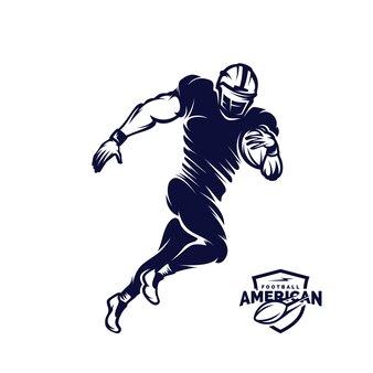 アメリカンフットボールのロゴのシルエット、アメリカンフットボールのロゴ