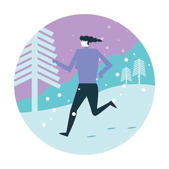 Running athlete woman training