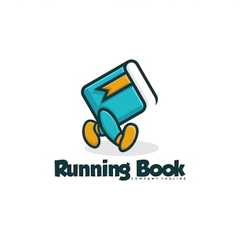 Running book logo
